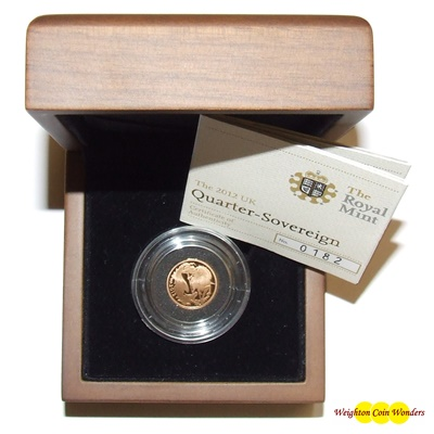 2012 Gold Proof 1/4 SOVEREIGN - NEW DESIGN NOW IN STOCK